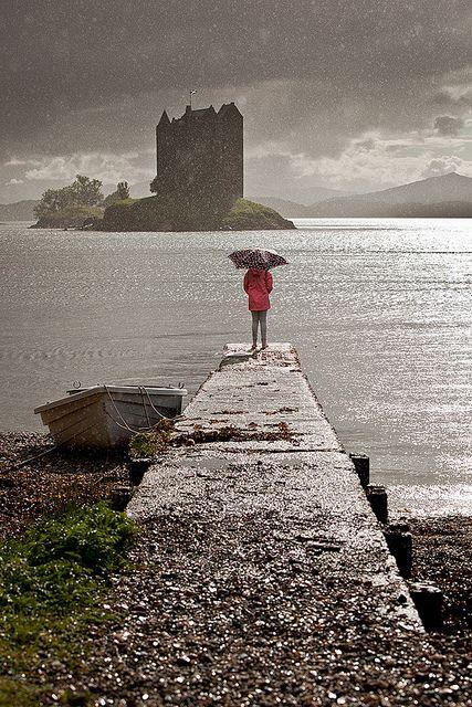 Heavy rain with a bit of sunshine, Appin, Scotland by Alec Kirkham