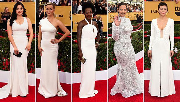 "SAG Awards: Red carpet trends ... ""Winter white"""