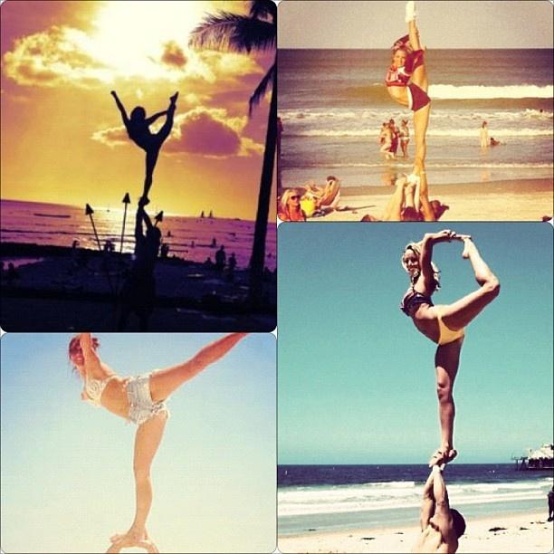 amazing cheer stunts!