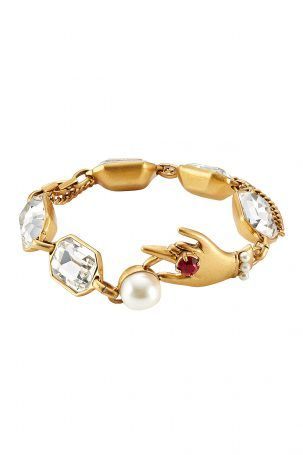 Marc Jacobs Marc Jacobs Armband Hand Crystal – Gold