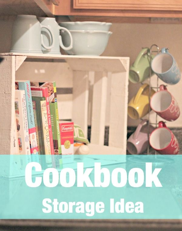 Cookbook Storage Idea | My Breezy Room