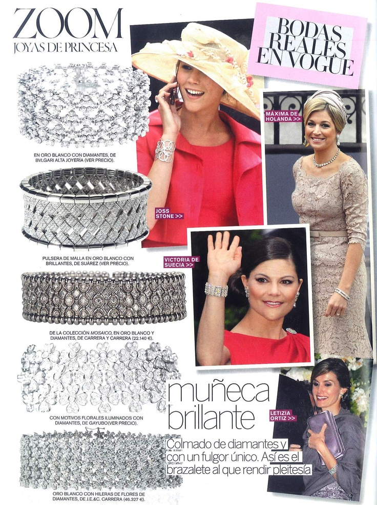 Zoom   Editorial by Vogue España   Bracelet from white gold by Gayubo