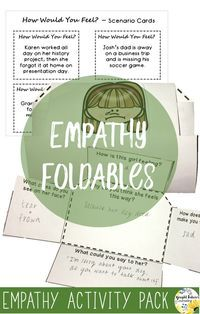 Empathy foldables for school counseling
