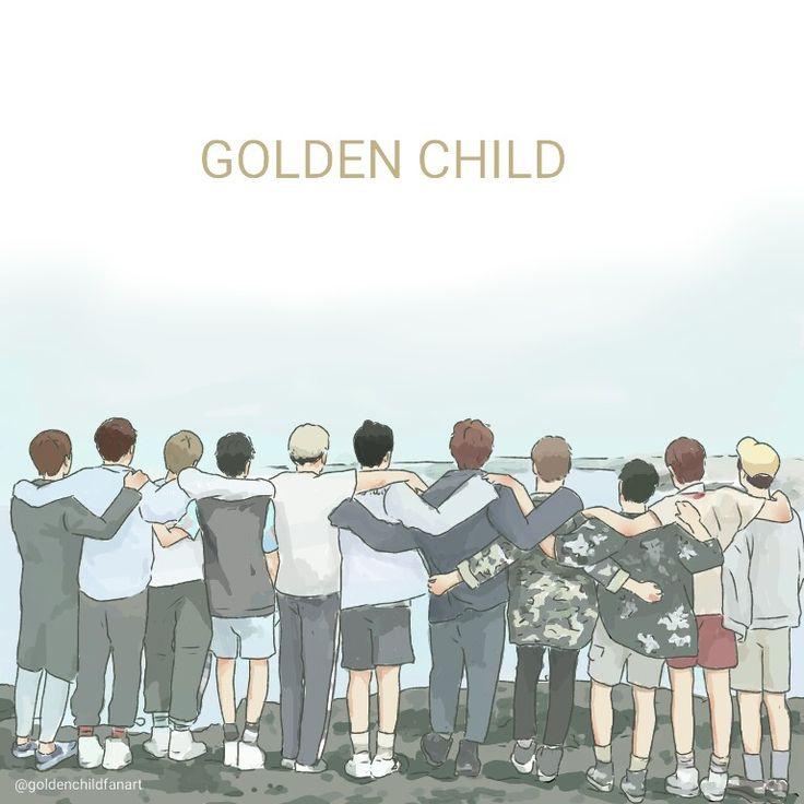 Holding hands golden child jeju island fanart