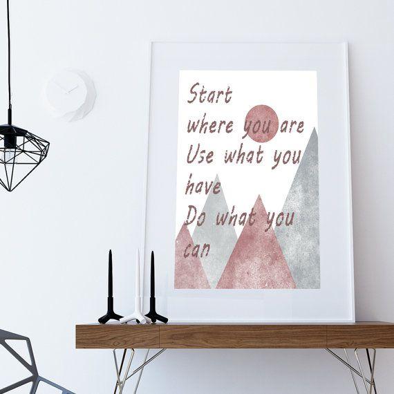 INSTANT DOWNLOAD Start  where you are di DamaDigitalDesign su Etsy