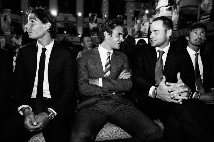 Rafael Nadal, Roger Federer, Andy Roddick
