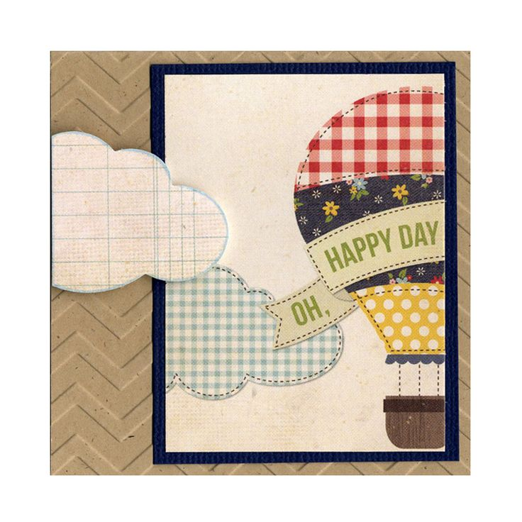 Balloon Cloud Chevron Texture Card
