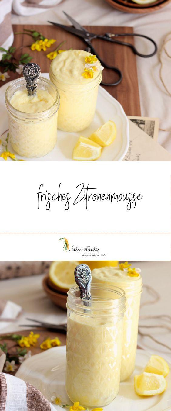 Rezept für Zitronenmousse / Zitronen Creme