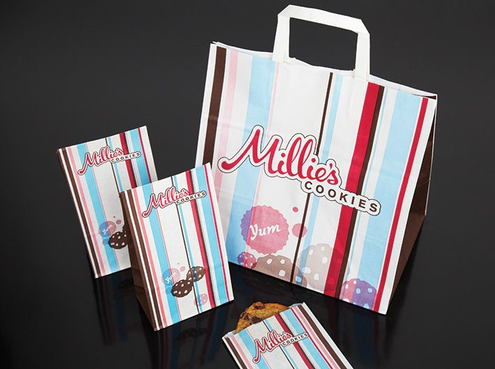 Millies Cookies Packaging Brand Ideny Graphics New Food
