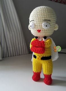 Free Saitama One Punch Man Crochet Tutorial by AmigurumiPianosound