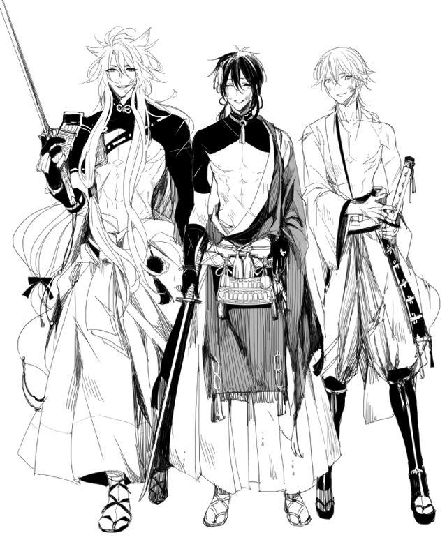 Touken Ranbu: Kogitsunemaru, Mikazuki Munechika, Tsurumaru Kuninaga