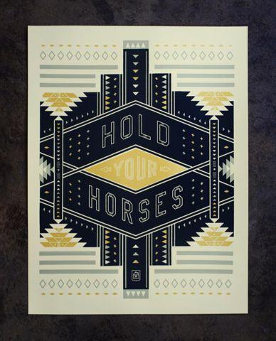 : Graphic Design, Neighborhood Studio, Horses, Pattern, Hold, Art, Poster, Neighborhoodstudio