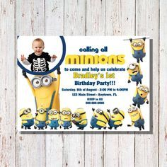 The Best Minion Birthday Invitations Ideas On Pinterest - Birthday invitation template minions