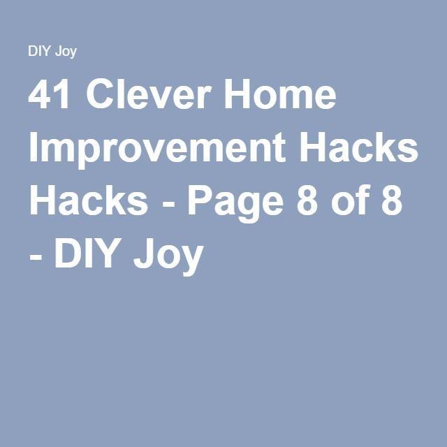 41 Clever Home Improvement Hacks - Page 8 of 8 - DIY Joy