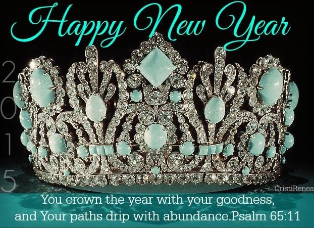 You crown the Year with your goodness and Your paths drip with abundance. Psalm 65:11