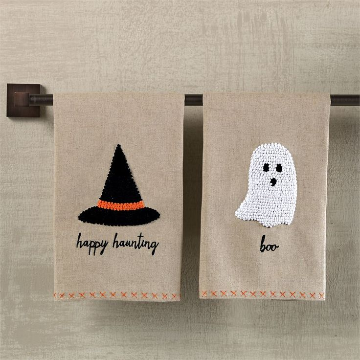 French Knot Halloween Towels  | Home | Mud Pie | Halloween Home Decor | Pumpkins | Witch and Witches | Witch Halloween Decorations | Halloween Decorations | Ghost | Ghosts | Napkins | Towels | Decorative Towels | Kitchen Towels