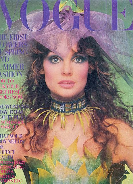 Vogue Fashion Magazine,April 1970.  Cover:Model Jean Shrimpton,photographed by Barry Lategan.