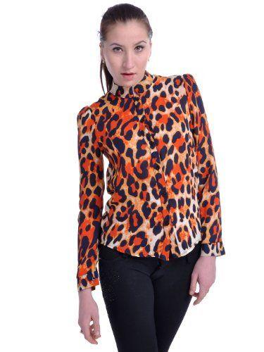 Anna-Kaci S/M Fit Orange Chester Cheetos Inspired All Over Cheetah Print Top Anna-Kaci. $26.90