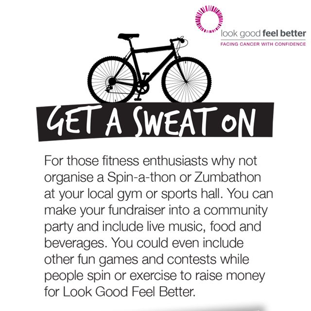 Fundraising Idea #1 Get a Sweat On!