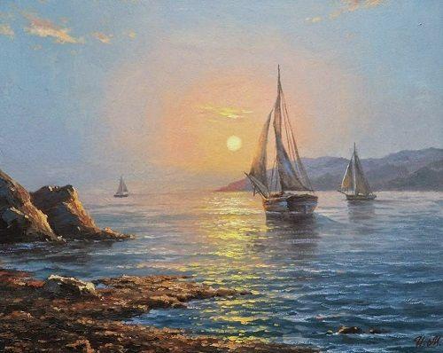 cuadros de paisajes marinos bonitos