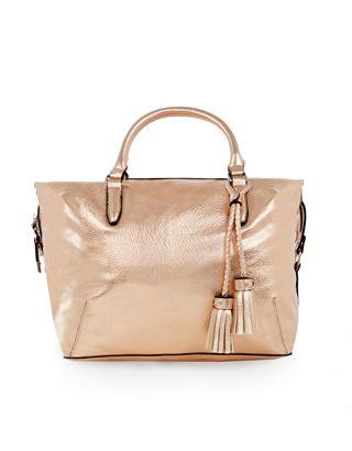 Ella Soft Handheld Bag | ROSE GOLD | Accessorize