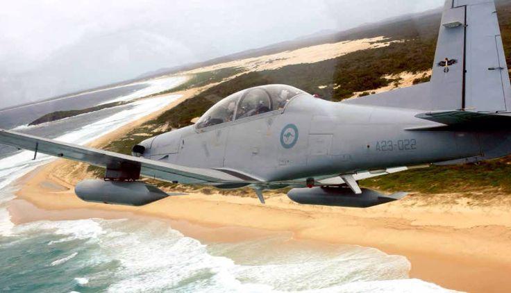 RAAF PC-9 over NSW coast