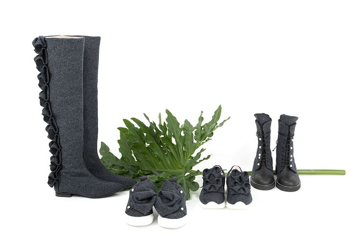 When nature comes together... 4 styles, 1 collection. All Josefinas' are handmade with burel, a fabric 100% wool and, due to its manufacturing process, it´s naturally waterproofed. Sneakers and boots for a cozy winter #JosefinasPortugal
