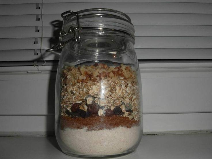 Sklenice se surovinami na sušenky