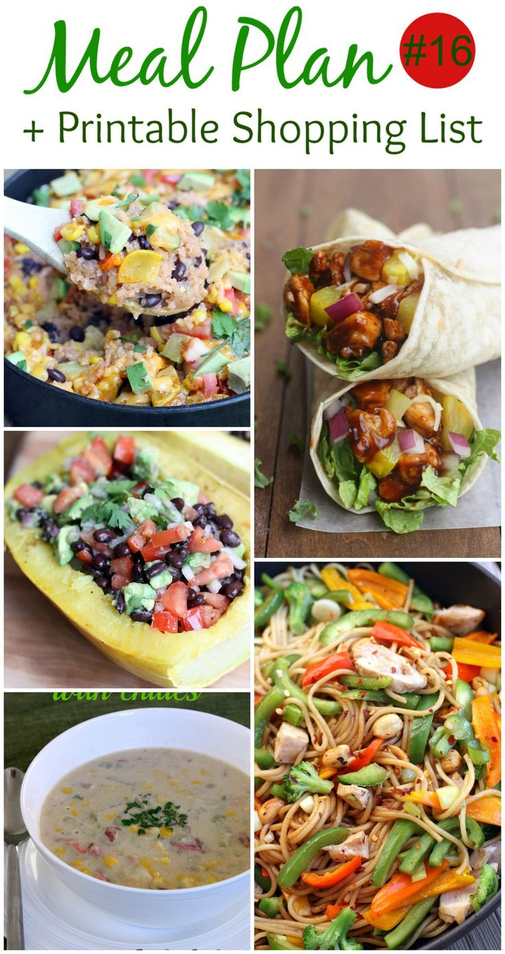 The hardest part of creating a meal plan is finding the ideas, and creating a shopping list, so I've done that for you! 5 easy and family friendly meals with a FREE SHOPPING LIST!