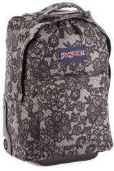 Jansport rolling backpacks girls in flowers in gray.   #RollingBackpacksGirls