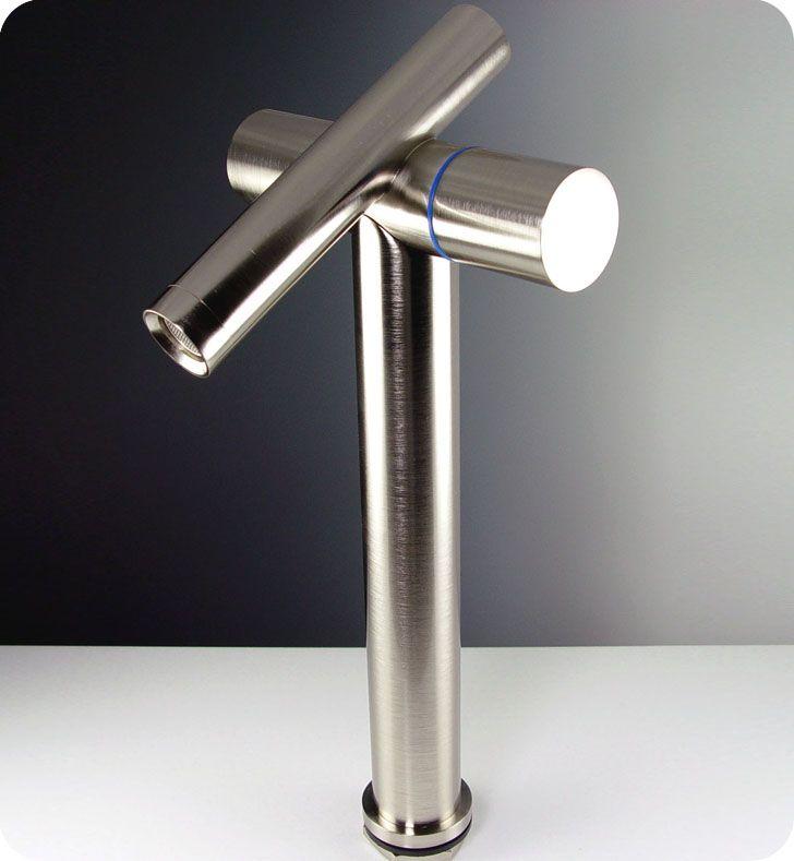Picture Collection Website Fresca FFTBN Trebia Single Hole Vessel Mount Bathroom Vanity Faucet Brushed Nickel