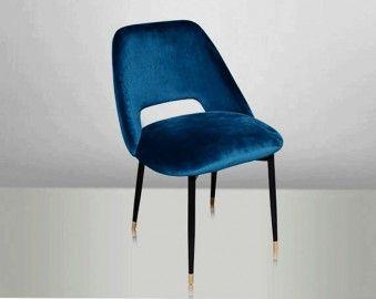 1000 id es sur le th me chaises de velours bleu sur for Chaise eames bleu petrole