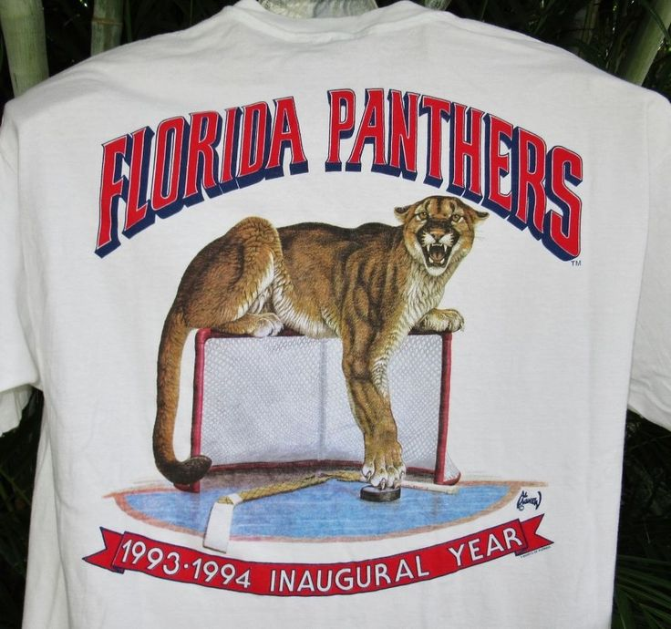 Vintage 1993 Florida Panthers Hockey T Shirt Inaugural Year Al Agnew Artist  XXL #TShirtsofFlorida #FloridaPanthers