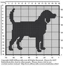 Free Filet Crochet Beagle Pattern