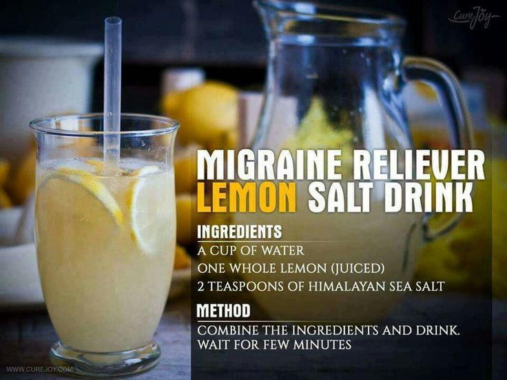 Migraine Reliever Lemon Salt Drink