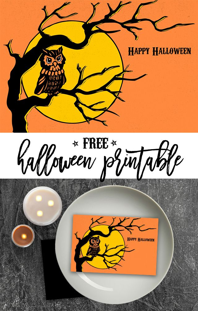 Free Retro Halloween Printable Card Eighteen25 Retro Halloween Halloween Printables Halloween Printables Free