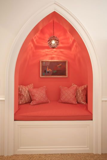 Cathedral nook. great reading spot, another color..
