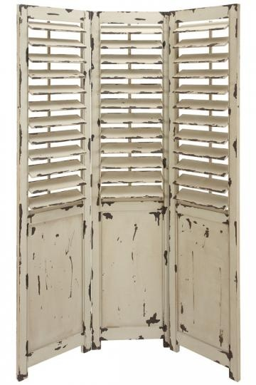 ideas for transforming four louvered doors into a beachy room screen