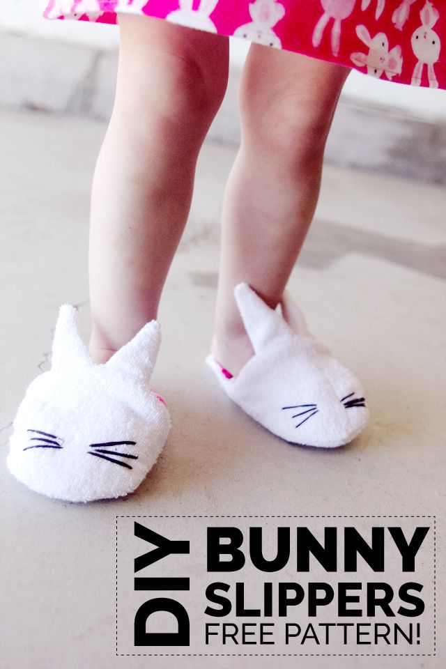 Keep your kids' feet warm with these adorable DIY bunny slippers, courtesy of See Kate Sew. The soft material and cute design makes this project a keeper. Click in to learn more.