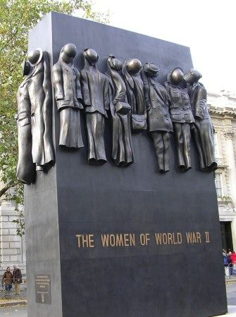 Unveiled on July 9th 2005 in Whitehall, near the Cenotaph.  The Women of WWII is a 22ft-high bronze sculpture depicting the uniforms and working clothes worn by women during the war.