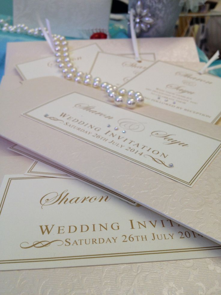 Luxury bespoke wedding invitation handmade by Perfect