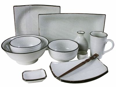 #Contemporary #AsianInspired #Dinnerware Brown on White  sc 1 st  Pinterest : asian dinnerware set - pezcame.com