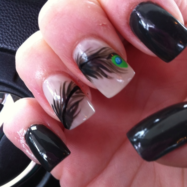 14 best peacock nail art images on pinterest nail nail peacock opi nign nign ok fine peacock feather two finger design my nail girl prinsesfo Choice Image