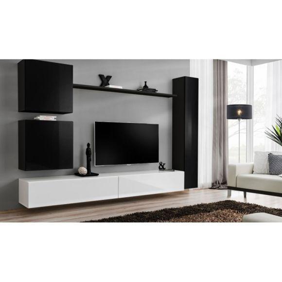 Paris Prix Meuble Tv Mural Design Switch Viii 280cm Noir Blanc Pas Cher Achat Vente Meubles Tv Hi Fi Meuble Tv Mural Design Ensemble Meuble Salon Mobilier De Salon