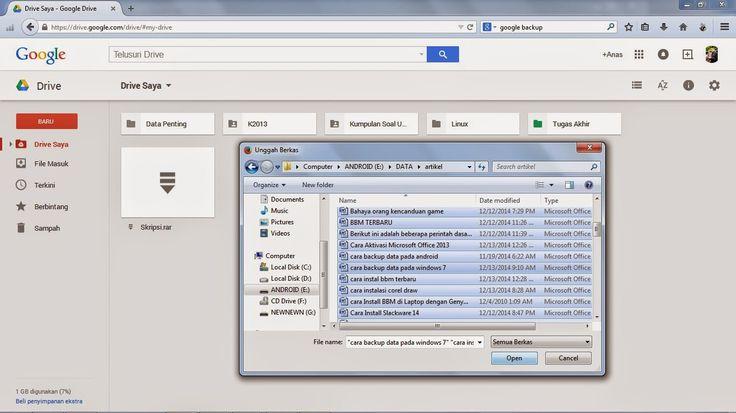 Cara Backup Data pada Google Drive
