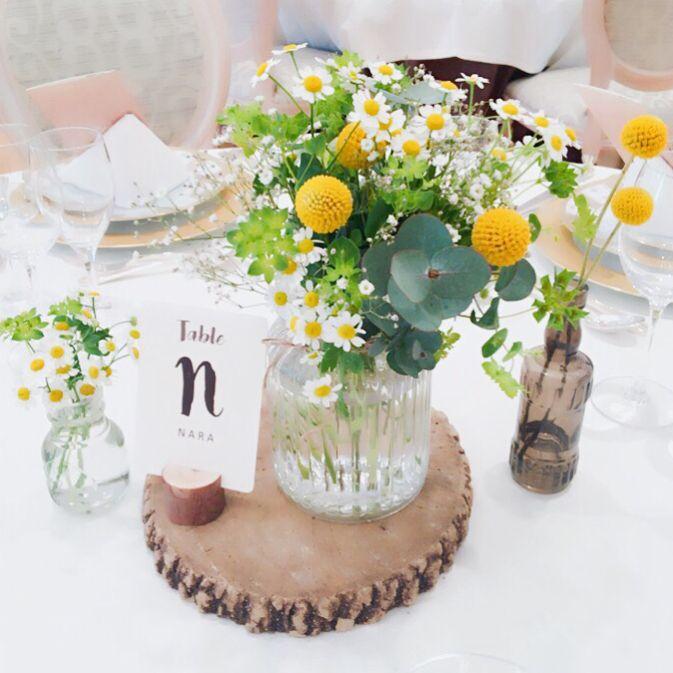ナチュラルウェディングがテーマのゲストテーブル装花まとめ | marry[マリー]