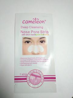 Dear Butterfly: Cameleon deep cleansing nose pore strip review