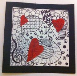 Carte de vœux Zentangle - Mélimélune