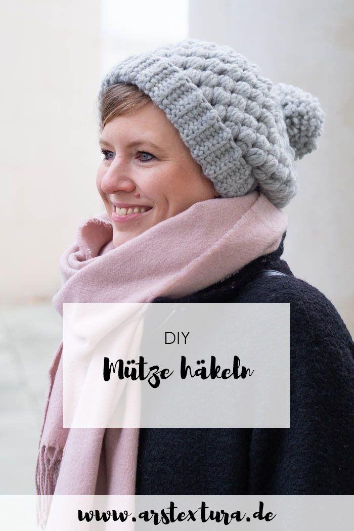 Kuschelige Mütze Häkeln Diy Basteln Pinterest Crochet Und Diy