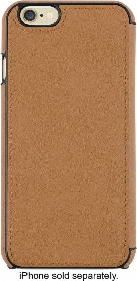 JACK SPADE - Folio Case for Apple® iPhone® 6 and 6s - Fulton Leather Tan - AlternateView1 Zoom